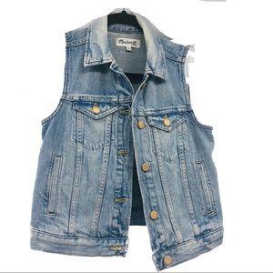 Madewell Denim Jean Vest Size XS